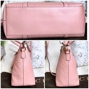 Gucci Bags - Gucci Microguccissima Margaux Pink Leather Tote